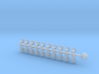20x Neptune Spears - Tiny Convex Insignias (3mm) 3d printed