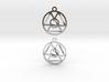 Oneness Earrings 3d printed