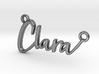 Clara First Name Pendant 3d printed