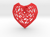 Horn Torus Heart Earring (001) 3d printed