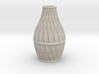 Scalloped Vase Neck 2 Spiral Small 3d printed