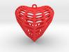 CrossCap Surface Heart Earring (001) 3d printed