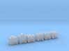 Heads for Technobot Kreons (Set 2 of 2) 3d printed