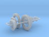 1/12 Modern 11.6 Inch Diam 4 Piston Disk Brake Set 3d printed