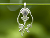 Wolves in Love 3d printed Wolves in Love in Polished Silver