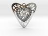 Voronoi Heart+Heart Pendant (001) 3d printed