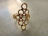 Round Bee Open 3T Ring 3d printed