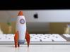 Rocketship 3d printed Ready for takeoff!