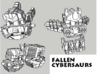 Fallen Cybersaurs (Ptero, Bronto, Stego, Tricer) 3d printed
