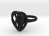Heart Cage Ring 3d printed