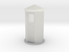 N-Scale SP Concrete Phone Booth 3d printed