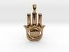 Hamsa-khamsa Hand Necklace Charm. 3d printed