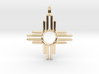 Native American, Solid Gold 14K, Zia Sun Gold Amul 3d printed