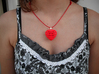 Hearts in Heart Pendant 3d printed Printed in Red Polished Strong & Flexible Plastic