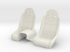 Seats for Micro Shark 3d printed