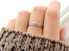 Born To Sparkle Ring (Multiple Sizes) 3d printed 'Born To Sparkle' and Twin Sparkle Rings Stacked
