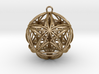 Icosasphere w/Nest Stellated Dodecahedron Pendant 3d printed