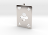 Ace of clubs, pendent 3d printed