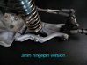 B2 Dyna Storm front suspension arm  3d printed 3mm Hingepin Version