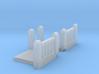 Concrete Art Deco Stair Landing (N scale) 3d printed