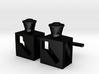 Weichenlaternen-Manschettenknopf 3d printed Rendering