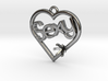 """Heart Pendant """"Sexy"""" (Offset 4.28mm) 3d printed"""