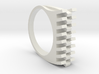 Tri-Fold Edge Ring - US Ring Size 07 3d printed White Strong & Flexible Plastic Rendering