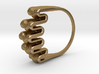Ripple Ring - US Size 07 3d printed Polished Gold Finish Steel Rendering