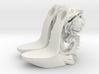girl-platform sole base-heel-rococo 3d printed