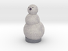 Coal The Snow Man 3d printed