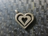 Enjoined Hearts Pendant 3d printed Enjoined Hearts Pendant in Stainless Steel