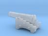 1/72 Scale 24 Pounder Naval Gun 3d printed
