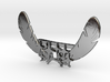 2 Feather and 9 Stars Collar / Tie Clip  -  LLFes 3d printed