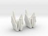 Origami Crane Bead Earrings 3d printed