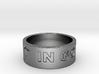 37 IN GOD WE TRUST V2 Ring Size 8.5 3d printed