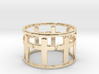 15 Cross Open Ring Size 7.5 3d printed