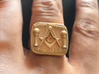 Size 11 Mason Ring 3d printed