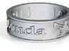 KEVIN V Ring Size 6.5 3d printed