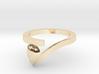 Pear Shaped Diamond Ring 3d printed