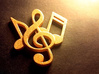 Music Necklace 3d printed Music Note Charm