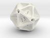 Geometric d20 [Plastics] (engraved) 3d printed