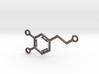 Large Dopamine Molecule 3d printed