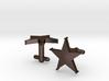 Sheriff's Star Cufflinks (Style 1) 3d printed