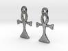 :Simple Ankh: Earrings 3d printed