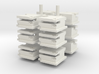 Concrete Block House with Shell Damage (x12) 3d printed