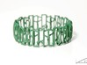Modern patterned bracelet 3d printed Green Strong & Flexible