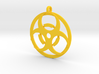 Biohazard necklace charm 3d printed