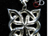 4 Clover Knot - Pendant 3d printed Front view. Actual Product Image. Shown in polished silver. Chain not included