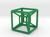 SCULPTURE: HyperCube Base for 48mm 3d-Cross 3d printed
