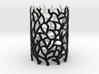 Coraline Tealight Black/White Sandstone 3d printed